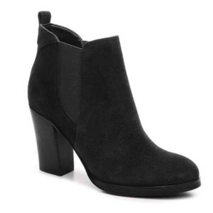 Marc Fisher Chelsea Suede Ankle Bootie Black